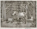Animals in a Barn